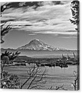 Mt. Rainier Over The Port Of Tacoma Acrylic Print