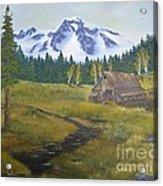 Mt Rainier Ranch Acrylic Print
