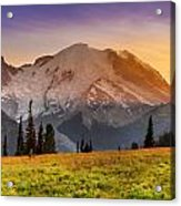 Mt. Rainier Sunset 2 Acrylic Print