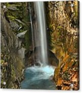 Mt Rainier Waterfall Acrylic Print