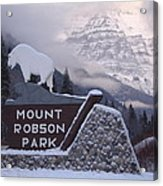 Mt Robson  Acrylic Print