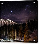 Mt. Rose Highway And Ski Resort At Night Acrylic Print