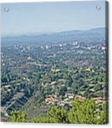 Mt. Soledad - View To The North Acrylic Print