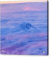 Above The Clouds At Sunset Acrylic Print