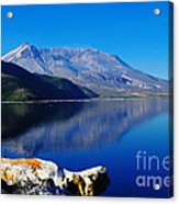 Mt St Helens Reflecting Into Spirit Lake   Acrylic Print