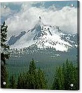 1m5505-mt. Thielsen In Clouds Acrylic Print