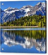 Mt. Timpanogos Reflected In Silver Flat Reservoir - Utah Acrylic Print