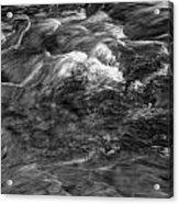 Mtn Stream Bw3 Acrylic Print
