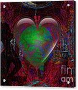 Mucha Love  Acrylic Print