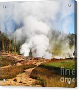 Mud Volcano And Sulphur Caldron  Acrylic Print