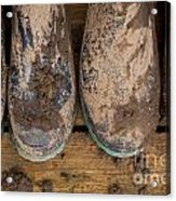 Muddy Boots On Deck Acrylic Print
