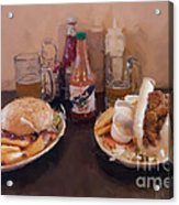 Muffaletta And Po-boy Acrylic Print