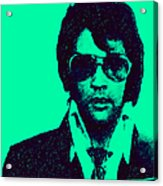Mugshot Elvis Presley P128 Acrylic Print by Wingsdomain Art and Photography