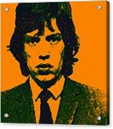 Mugshot Mick Jagger P0 Acrylic Print by Wingsdomain Art and Photography