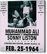 Muhammad Ali Poster Acrylic Print