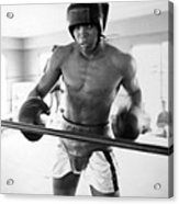 Muhammad Ali Training Inside Ring Acrylic Print