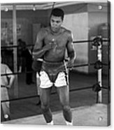 Muhammad Ali Warming Up Acrylic Print by Retro Images Archive