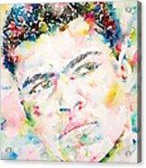 Muhammad Ali - Watercolor Portrait.1 Acrylic Print
