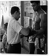 Muhammad Ali With Trainer Acrylic Print