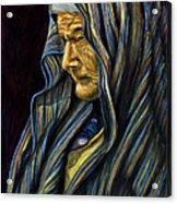 Mujer Mayor En Rebozo Acrylic Print