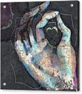 Muladhara - Root 'blue Hand' Chakra Mudra Acrylic Print