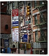 Mulberry Street New York City Acrylic Print