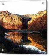 Mule Shoe Colorado River Acrylic Print