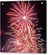 4th Of July Fireworks 1 Acrylic Print by Howard Tenke