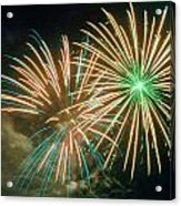 4th Of July Fireworks 2 Acrylic Print by Howard Tenke