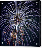 4th Of July Fireworks 12 Acrylic Print by Howard Tenke