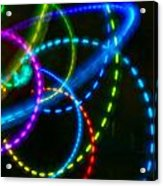Multi-color Light Orbits Acrylic Print