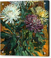 Multi Colored Chrysanthemums Acrylic Print