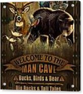 Multi Specie Man Cave Acrylic Print by JQ Licensing