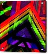 Multicolor Geometric Artwork Acrylic Print by Mario Perez