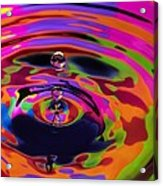 Multicolor Water Droplets 2 Acrylic Print by Imani  Morales