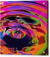 Multicolor Water Droplets 2 Acrylic Print