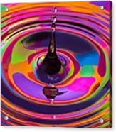 Multicolor Water Droplets 3 Acrylic Print