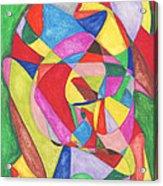 Multicolored Maze Acrylic Print by Ellen Howell