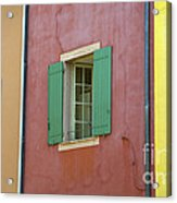Multicolored Walls, France Acrylic Print