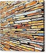 Multicoloured Slate Wall Acrylic Print