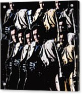 Multiple Johnny Cash's In Trench Coat 1 Collage Old Tucson Arizona 1971-2008 Acrylic Print