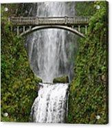 Multnomah Falls Bridge Acrylic Print
