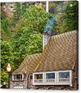 Multnomah Falls Lodge Acrylic Print