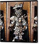 Mummer Man Triptych Acrylic Print