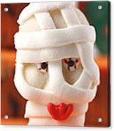 Mummy Sweet On Halloween Cup Cake Acrylic Print