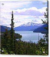 Muncho Lake View Acrylic Print