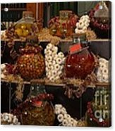 Munich Market With Pickles And Olives Acrylic Print