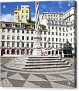 Municipal Square In Lisbon Acrylic Print