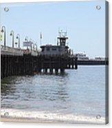 Municipal Wharf At The Santa Cruz Beach Boardwalk California 5d23767 Acrylic Print