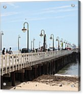 Municipal Wharf At The Santa Cruz Beach Boardwalk California 5d23773 Acrylic Print by Wingsdomain Art and Photography